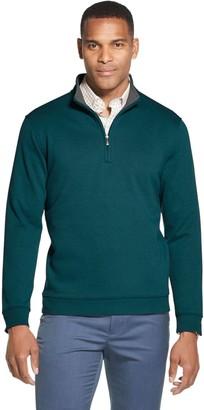 Van Heusen Men's Flex Fleece Quarter-Zip Pullover