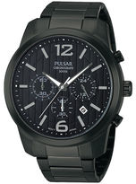Pulsar Mens Black Chronograph Watch PT3287