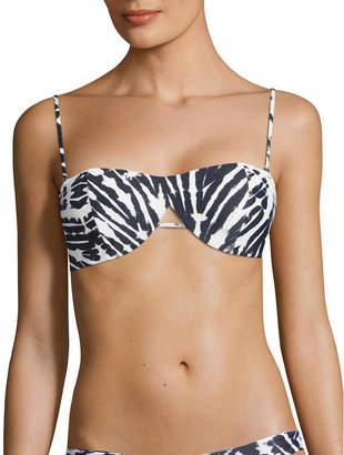 Mikoh Paia Cut-Out Detail Bandeau Bikini Top
