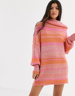 Free People Candy Stripe jumper dress-Pink