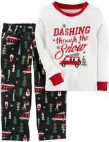 Carter's Boys'-20 2 Piece Christmas Cotton Fleece Pajamas