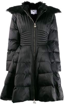 Elisabetta Franchi flared puffer coat