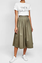 Golden Goose Deluxe Brand Midi Skirt with Cotton and Fleece Wool