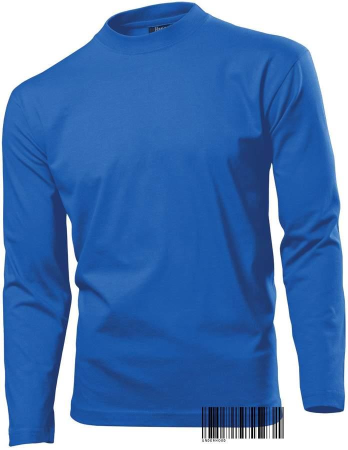 Underhood of London Long Sleeve Heavy T-shirt for Men - 100% Cotton - Regular Fit - Hanes Heavy-T