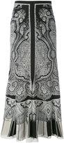 Alexander McQueen paisley skirt - women - Silk - 44