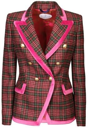 Pink Checkered Blazer Emilia