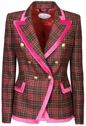 The Extreme Collection Pink Checkered Blazer Emilia
