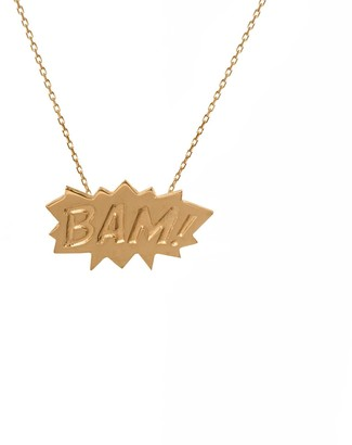 Edge Only Bam Pendant In Gold Vermeil | A Pop Art Statement Necklace Bam!