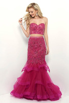 Blush Lingerie Sweetheart Tulle Mermaid Dress 11339