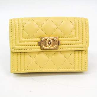 Chanel Boy Yellow Leather Wallets