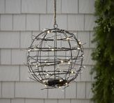 Pottery Barn Faux Lit Berry Hanging Sphere