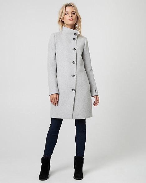 Le Château Wool Blend Funnel Neck Asymmetrical Coat