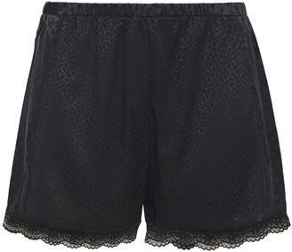 Stella McCartney Camelia Daring Lace-trimmed Satin-jacquard Pajama Shorts