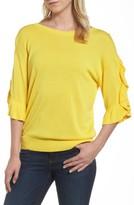 Halogen Women's Ruffle Sleeve V-Back Sweater