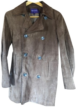 Ralph Lauren Camel Leather Leather Jacket for Women