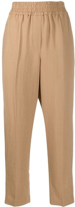 Brunello Cucinelli Elasticated Waist Cropped Trousers