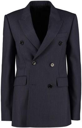 Celine Wool Pinstriped Blazer