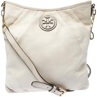 Tory Burch Cream Leather Crossbody Bag