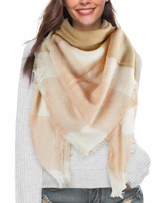 heekpek Scarves Wraps Winter Shawl Scarf Women Big Tartan Blanket Ladies Shawl Large Warm Thick Reversible Plaid (Pink)