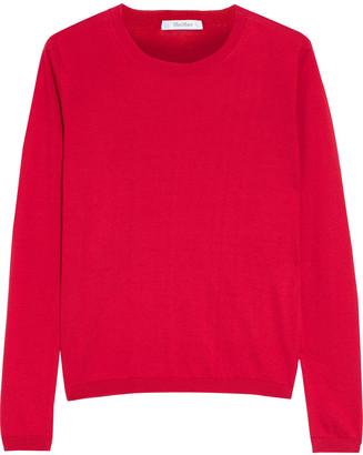 Max Mara Berard Cotton And Silk-blend Sweater