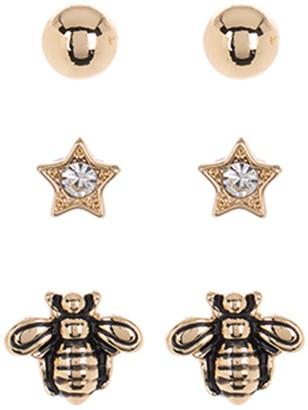Vince Camuto Ball, Star, & Bee Stud Earring Set