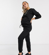 Asos DESIGN Maternity tracksuit ultimate sweat / jogger with tie in organic cotton