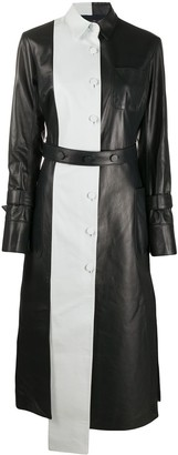 Rokh Two-Tone Leather Coat