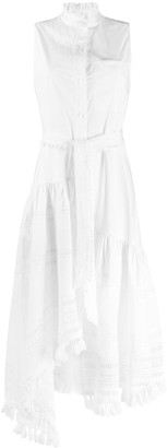 Derek Lam 10 Crosby Neroia Lace Inset Maxi Dress