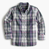 J.Crew Kids' oxford cotton shirt in purple plaid