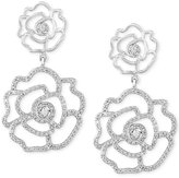 Effy Pave Classica By Diamond Rose Earrings (1-1/10 ct. t.w.) in 14k White Gold