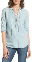 Joe's Jeans Women's Makeyla Lace-Up Chambray Shirt