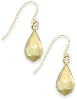 Macy's Faceted Teardrop Earrings in 10k Gold