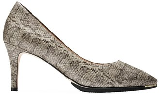 Cole Haan Grand Ambition Snakeskin-Embossed Leather Pumps