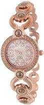 Titan Women's 9902WM01 Theme Raga Intricate Swarovski Elements Jewelry Inspired Gold-Tone Watch
