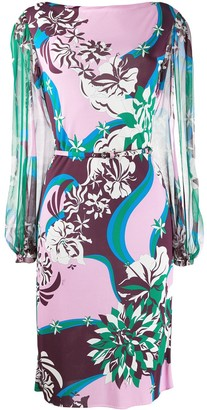 Emilio Pucci Patterned Midi Dress