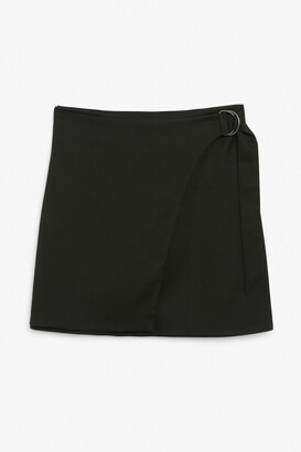 Monki Imitation wrap mini skirt