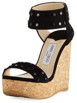 Jimmy Choo Nelly Cork Platform Wedge Sandal