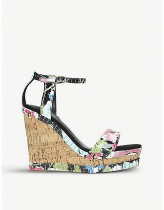 Carvela Kissmee leather wedge heel sandals