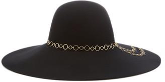 Eugenia Kim Bunny Chain-Embellished Wool Felt Hat