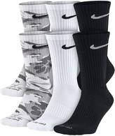 Nike Mens 6-pk. Dri-FIT Mix Camo Crew Socks