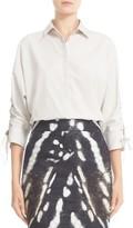 Max Mara Women's Flipper Lace-Up Dolman Sleeve Top