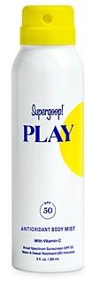 Supergoop! Play Antioxidant Body Mist Spf 50 with Vitamin C 3 oz.