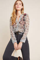 Maeve Ronan Embroidered Babydoll Blouse