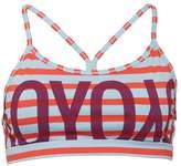 Reebok Womens Yoga Speedwick Stripe Sports Bra Top Laser Red