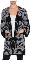 Magaschoni 3/4 Sleeve Jacquard Coat