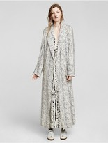 Calvin Klein Collection Photographic Leopard Micro Print Poly Coat