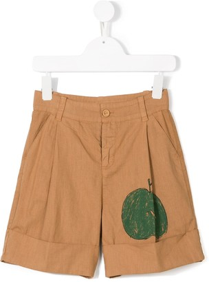The Animals Observatory Apple Print Shorts