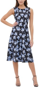 Tommy Hilfiger Floral-Print Midi Dress