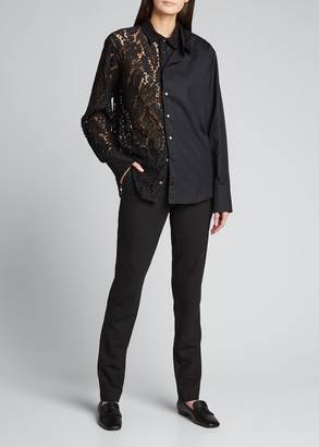 No.21 Layered Lace Button-Down Top