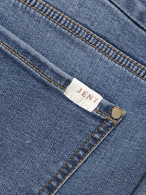 Thumbnail for your product : Jen7 Frayed Hem Crop Skinny Jeans